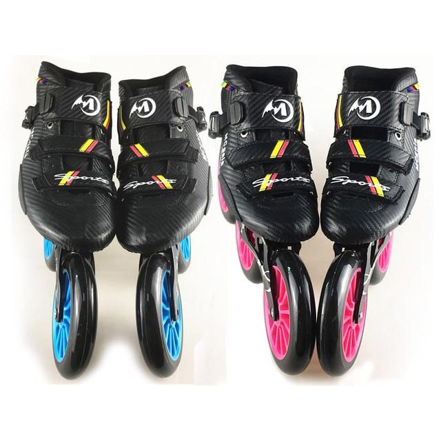 JEERKOOL profesional Inlines velocidad patines adultos 3 rueda 125mm patines  de ruedas para niños Mens zapatos 2c15488b852