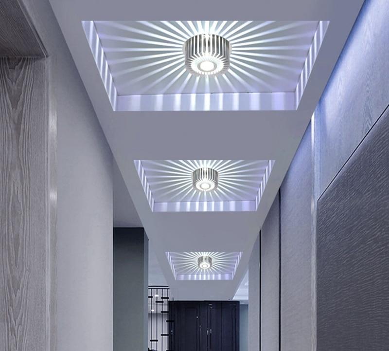 Modern LED Ceiling Light 3W Wall Sconce For Hotel KTV Art Gallery Decoration Balcony Lamp Porch Light Corridors Light Fixture (12)