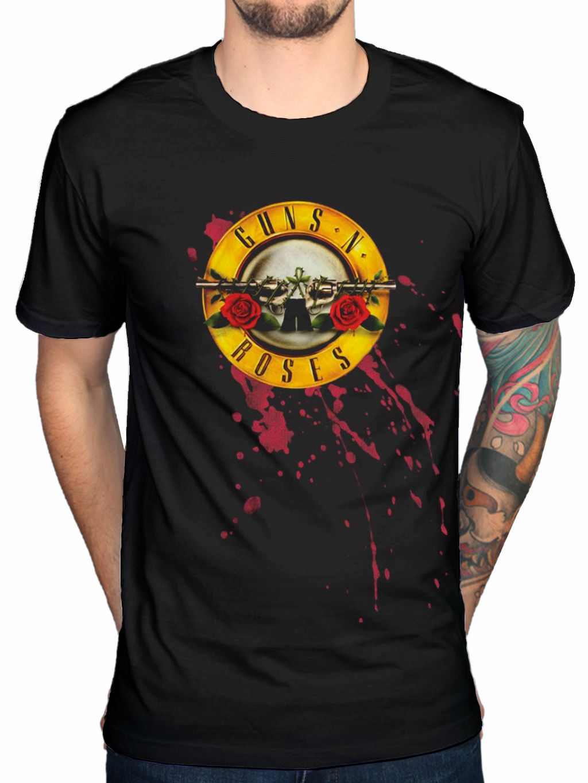 Guns N Roses Bullet T-Shirt Appetite Destruction Use You Illusion Fan