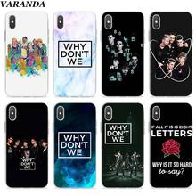 цена на Why dont we Clear Case for Apple iPhone 7 8 Plus 6 6s Plus 5 5s X XR XS MAX TPU Soft cases Coque