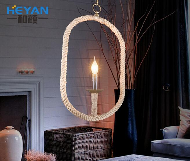 Industrial Retro Loft Style Iron and Rope Personality Creative Pendant Light Restaurant Cafe Decoration Lamp Free Shipping loft creative concise retro style wood rope pendant light cafe restaurant decoration light free shipping