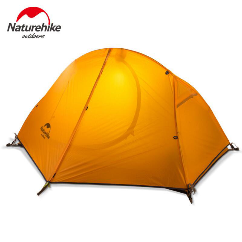 NATUREHIKE Ultralight Hiking Tent 1 Person Outdoor Camping Tent Trekking Waterproof Tourist Tents Single Carpas Barraca Tenda outdoor camping hiking automatic camping tent 4person double layer family tent sun shelter gazebo beach tent awning tourist tent