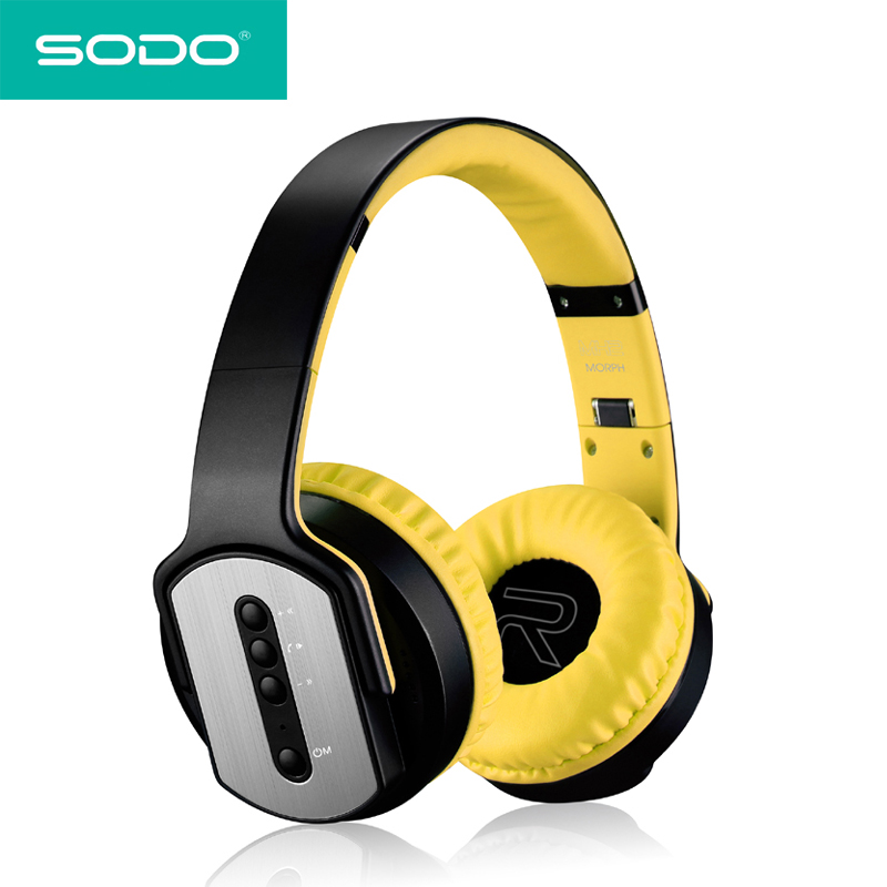 SODO MH2 Bluetooth Headphone earphones Twist-out Speaker Bluetooth 2 in 1 Headset NFC TF card Aux-in Hands-free for iPhone flashing lights twist out speaker bluetooth headphone with fm radio aux tf card mp3 sports magic headband wireless headset
