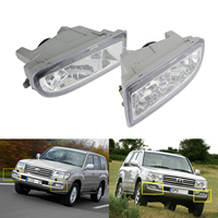 ANGRONG 2X Left & Right Front Bumper Fog Light Lamps For Toyota Land Cruiser Amazon 98 07