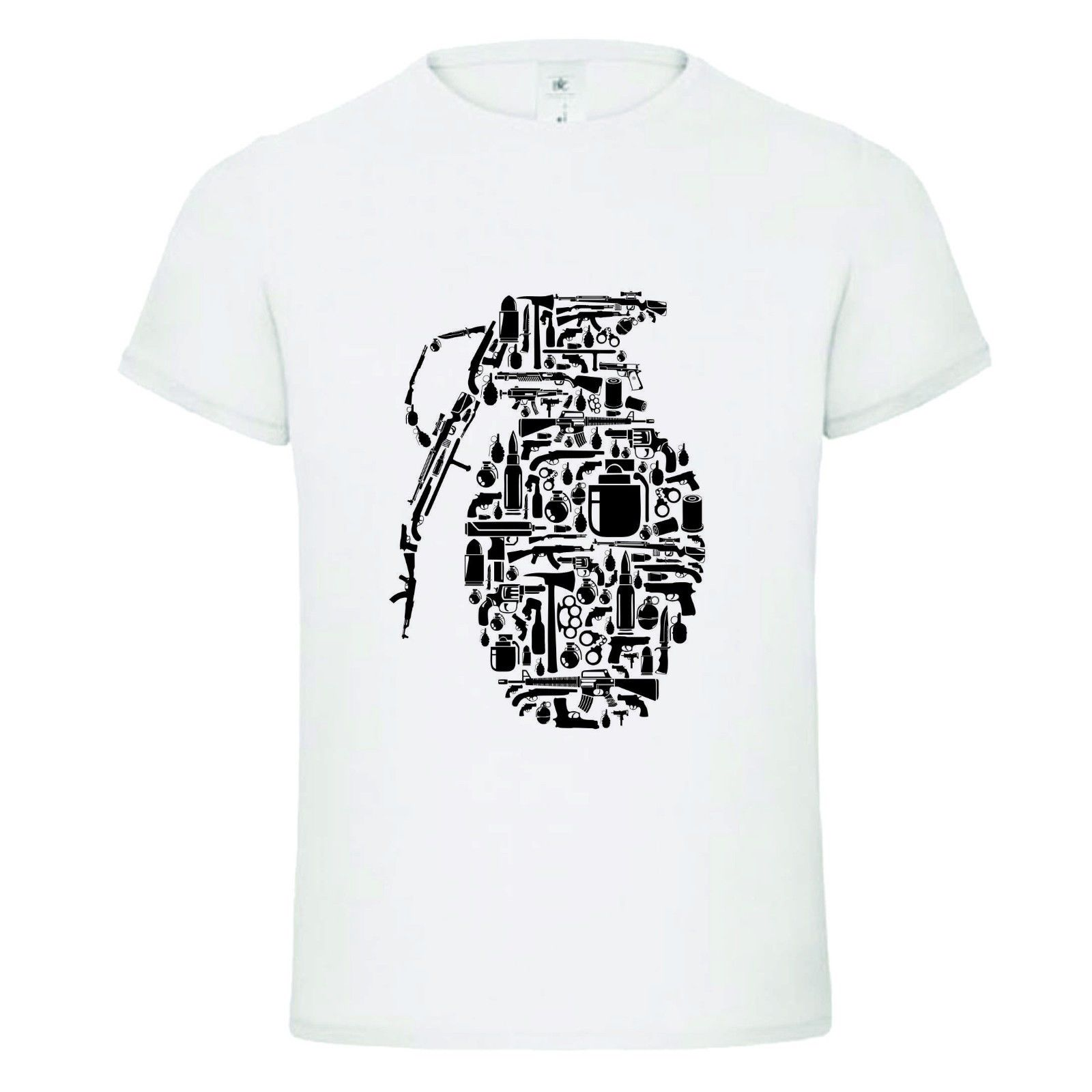 BOMB EXPLOSIVE SHAPES MASHUP funny mens dtg t shirt teeTop Tee 100% Cotton Humor Men Crewneck Shirts Fashion Classic