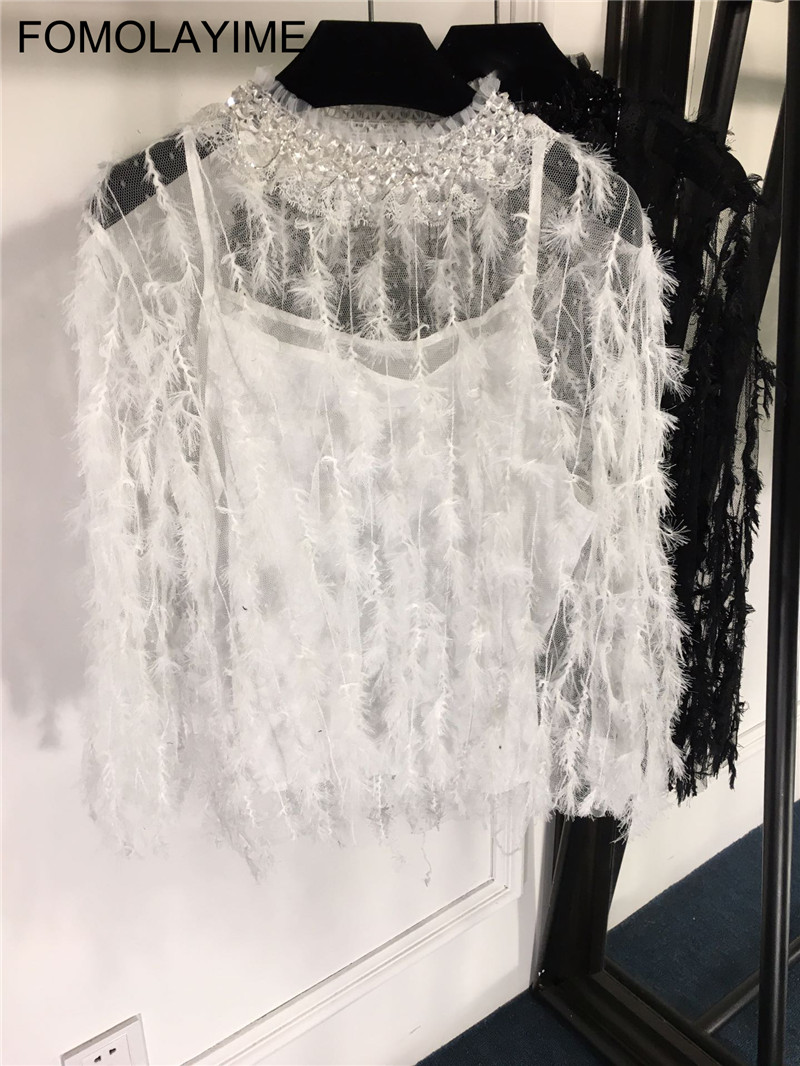 Blouse Fomolayime 2019 Black Blouse Primavera Moda Blusa Sexy Camisas white Blusas De Nueva Verano Llegada Mujer aRO1a