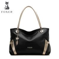 FOXER мягкие Для женщин из натуральной кожи сумка Твердые Multi Цвет сумки для женщин Роскошные Дизайнерские Сумки Женские сумки