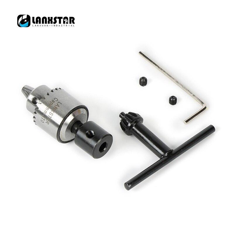 PCB CNC DIY Mini Carpeta de taladro eléctrico portabrocas 0,3 4mm JTO establece mandril de precisión diámetro de ajuste 5mm 775 mandril del eje del Motor