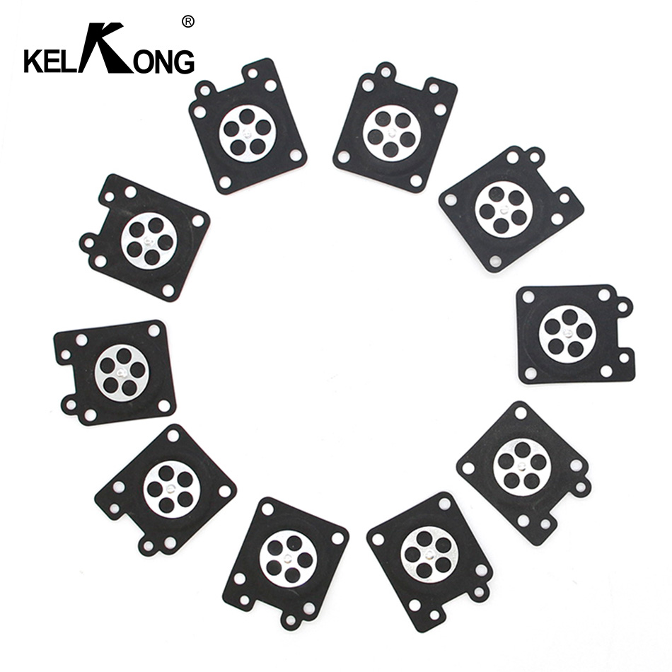 KELKONG 10Pcs Carburetor Diaphragm For ZAMA-MS260 MP16 3800 For <font><b>Sthil</b></font> Trimmer HS45 <font><b>FS38</b></font> FS55 BG45 GX35 Repair Parts Garden Tool image