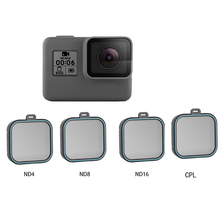 4 pack Fiter Set ND Lens Filter for Gopro Hero 5 Hero 6 Hero 7 Action Camera Protector (ND 4 8 16) + CPL Filter Kit for Gopro