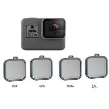 Paquet de 4 filtres et filtres dobjectif pour Gopro Hero 5 Hero 6 Hero 7 protection de caméra daction (ND 4 8 16) + Kit de filtres CPL pour Gopro