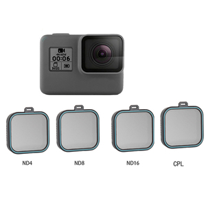 Image 1 - Set de filtro de lente ND para Gopro Hero 5 Hero 6 Hero 7, Set de 4 unidades, Protector de Cámara de Acción (ND 4 8 16) + Kit de filtro CPL para Gopro