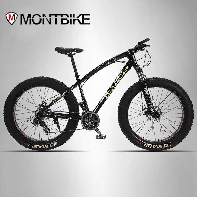 Lauxjack горный велосипед стальная рама 24 скоростей shimano дисковые тормоза 26 x4.0 колеса фэт-байке