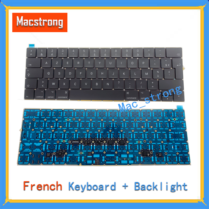 Brand New Original 13 A1706 French Keyboard For Macbook Pro 15 A1707 Retina 12 A1534 FR Keyboard With Backlight 2016 2017 image