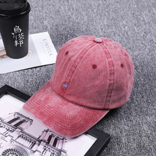 Men Baseball Caps Hat Snapback Hats For Women Washed Vintage Embroidery Adjustable Male Cap Solid Pure Color Caps for Men Women trendy cartoon sun embroidery solid color baseball hat for women