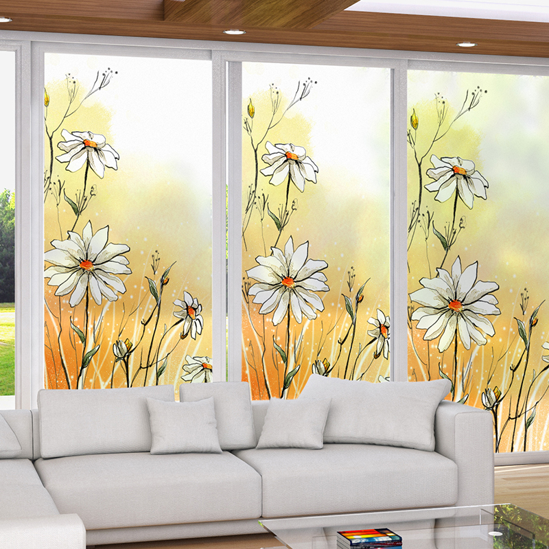 Customized Size Windows Glass Film Door Stickers Fashion Sticker Static Cling Privacy Glass Window Film For