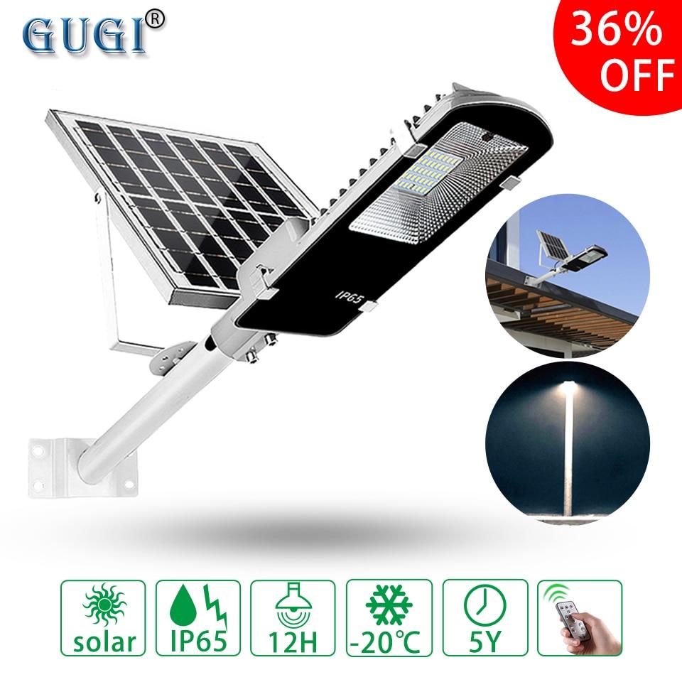 Réverbère solaire extérieur entrepôt d'outre-mer étanche grand panneau solaire télécommande lampadaire LED lumineux pour jardin