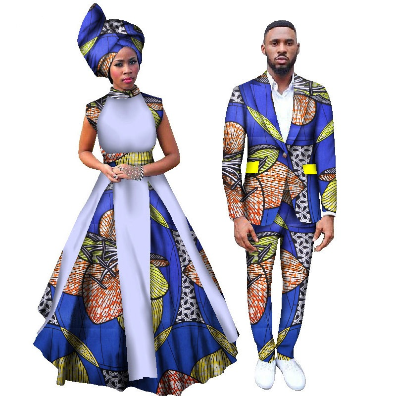 Traditional African Clothing Special Offer Top Fashion 2018 African Women Are Couples Suits Cotton Cerecloth (women+men)