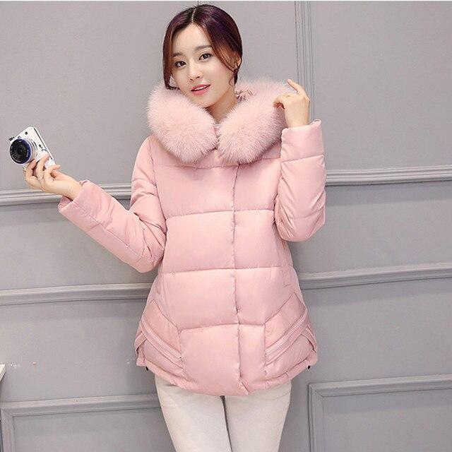 Capa de la ropa de maternidad Embarazadas mujeres acolchado de plumas de invierno nuevos grandes astilleros Coreanos embarazadas invierno de las mujeres capa de la manera abajo E633