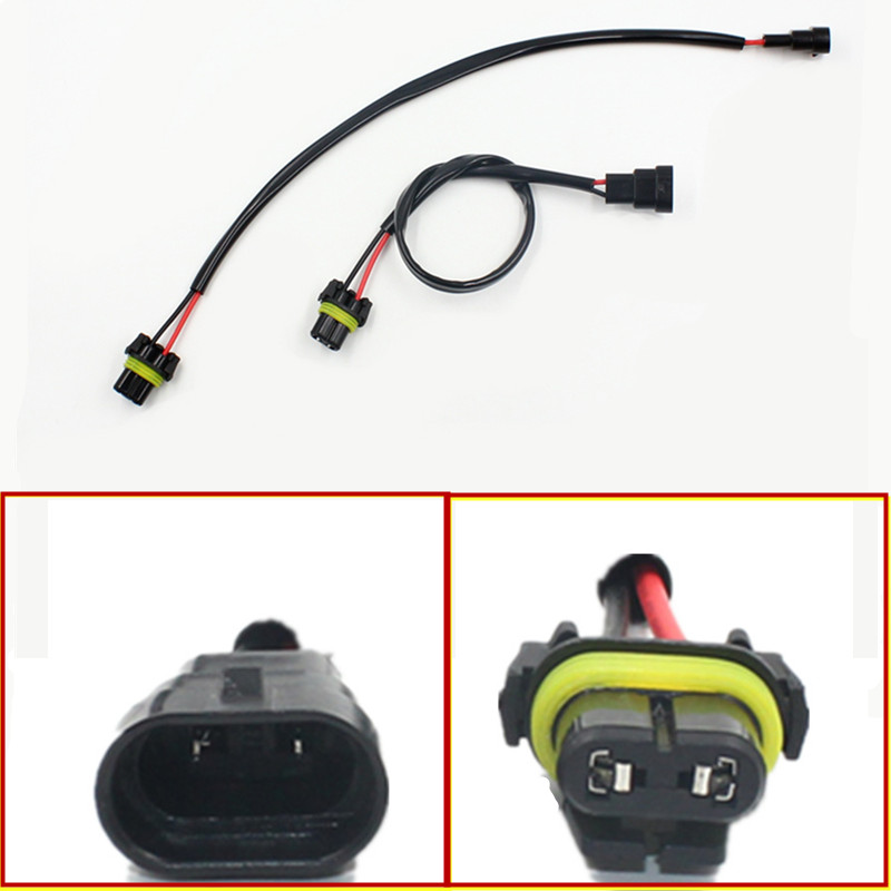 2pcs Car-styling Auto 9006 HB4 Wire Harness HID Xenon Power Cable Connector Ballast Socket HID Wiring relay Connector Adapter storage cable