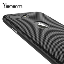 Yianerm For iPhone7/7Plus Phone Case 2 in 1 TPU Small lattice texture+PC Metal Frame Ultra Thin Protective Sleeve Cases