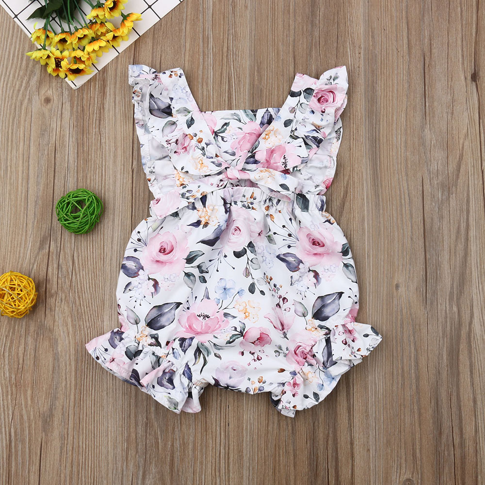 HTB1vK4Fa8Kw3KVjSZFOq6yrDVXah 3M-18M Newborn Infant Baby Girls Romper Clothes Outfit Summer Jumpsuit Playsuit