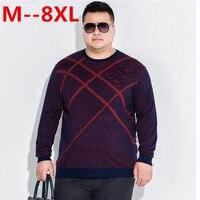 10XL 8XL 6XL 5XL Pullover Men O Neck Sweater Men Long Sleeve Shirt Mens Sweaters Wool