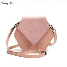 Tonny Kizz geometric crossbody bags for women shoulder bags leather messenger bags high quality solid color handbags desigual