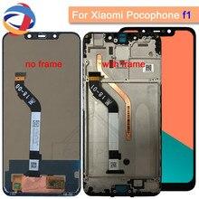 2018 Новый Дисплей для Xiaomi Pocophone F1 ЖК-дисплей Дисплей Сенсорный экран планшета Ассамблеи Xiaomi Поко F1 Индии ЖК-дисплей Экран Замена