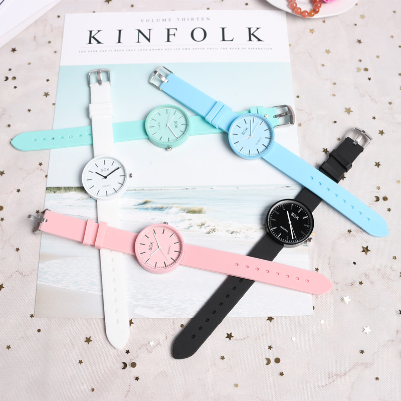 Watches Student Retro Girl Casual Korean Ulzzang Japanese Style Mint Green Jelly Watch Student Retro Girl Literature Watches