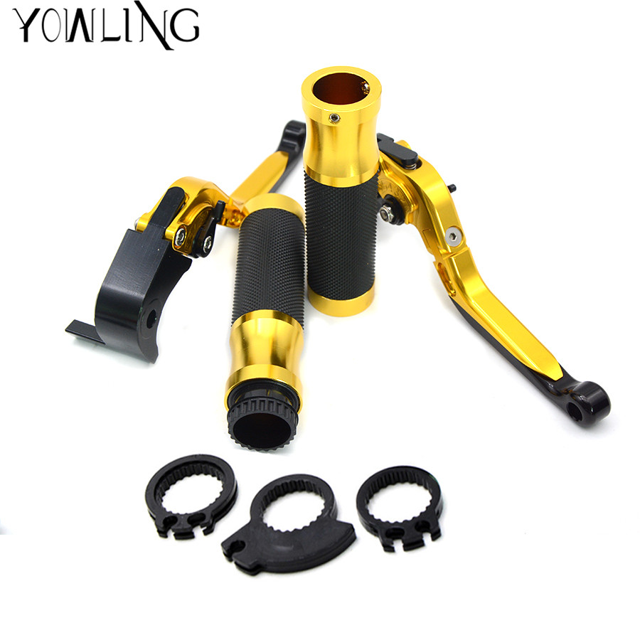 Motorcycle handle bar grips levers brake clutch For Yamaha TMAX 530 T-MAX 500 2008 2009 2010 2011 2012 2013 2014 2015 2016 2017 for yamaha t max 530 tmax 530 dx t max 530 sx 12 18 t max 500 accessories folding extendable brake clutch levers logo tmax