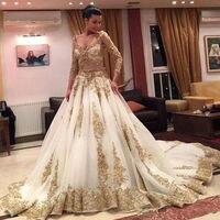 Luxury Muslim Beaded Dubai Kaftan Dress Three Quarter Sleeve Evening dresses Saudi Arabian Prom Gown Formal Dress robe de soiree
