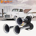 New Arrival 12V / 24V 110-135db Super Loud Triple Trumpet Train Air Horn for Boat Train Car Vehicle