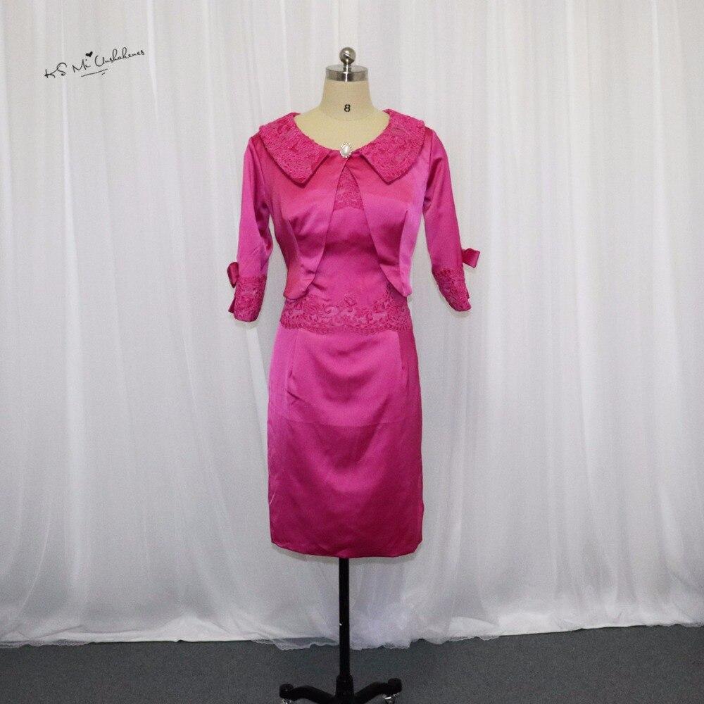 ₩Gorgeous Hot pink Madre de la novia Encaje Vestidos 2017 envoltura ...