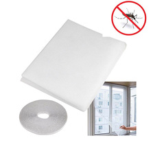 1 pcs Window Screens 1.5*2 M White Color Nylon Window Door Net Mesh Screen DIY Flyscreen Insect Fly Mosquito Sheer Curtains