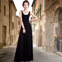 2017 women's clothing summer one-piece dress fashion slim basic tank dress a-line long dress elegant design Female