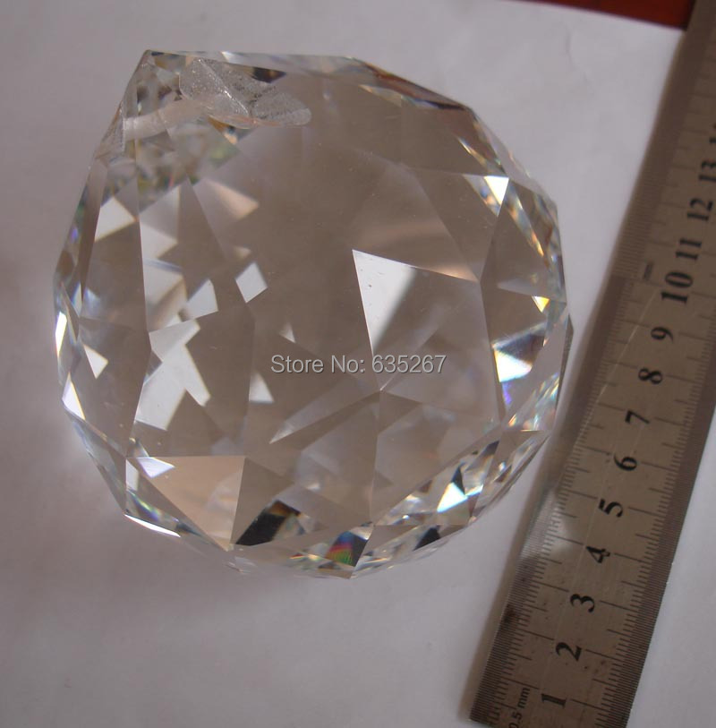 ФОТО 1PCS/lot, BIG SIZE100MM Crystal HANGING PENDANT BALLS GLASS PRISM CHANDELIER BALLS