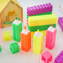 Novelty 6 color building blocks student Fun highlighter set DIY Album diary decoration highlighter Office & School Markers