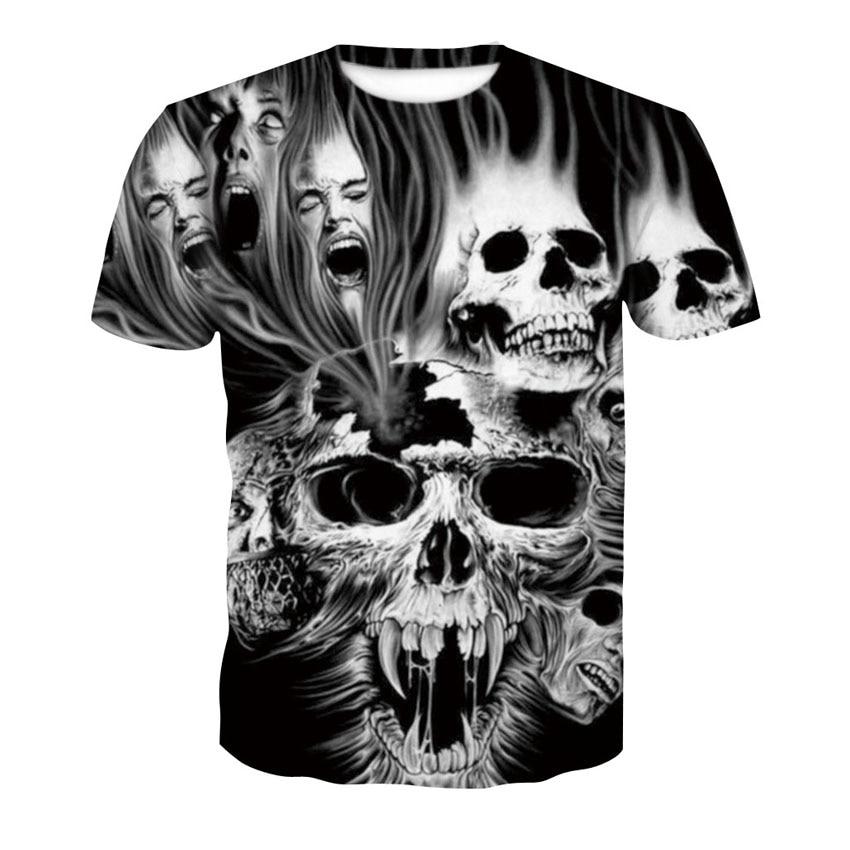 2018 neue schädel 3D T Shirt Sommer Mens Fashion Tops Männlichen Druck harajuku wolf Männer Frauen casual Anime T-Shirts dropshipping