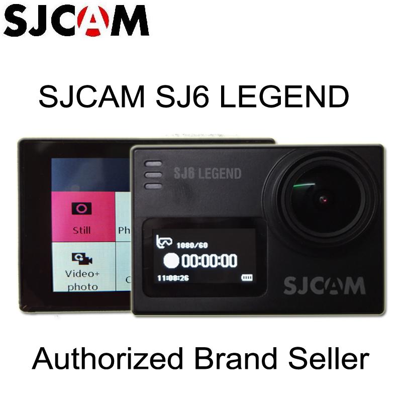 Prix pour En Stock! SJCAM SJ6 Légende Double Écran Gyro Action Casque Sport DV Caméra Étanche 4 K NTK96660 16MP BRUT FOV Soutien 128 GB