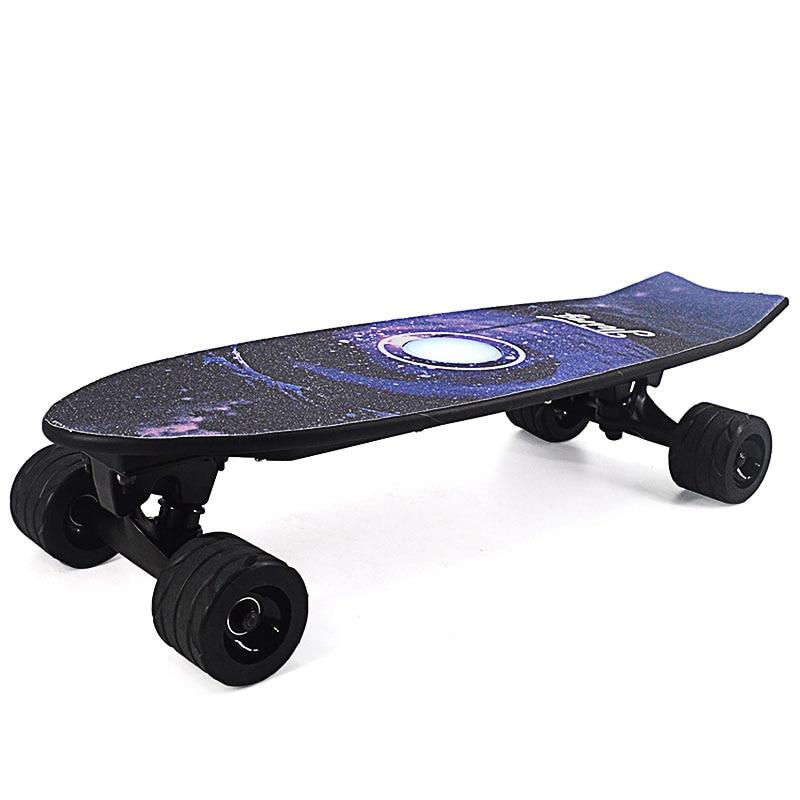 Nouveau Style planche à roulettes électrique avec télécommande sans fil planche à roulettes Scooter Longboard planche à roulettes pour adultes enfants