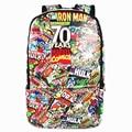 Marvel Movie 70 Aniversario Mochila Mochila de gran Capacidad Unisex Mochilas escolares Mochila Bolsa de Ordenador Portátil Hombres bagpack