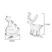 Ladies Fashion Tiny Simulated Pearl Cute Silver Mini Elks Reindeer Stud Earrings Women Christmas Style Jewelry Hot
