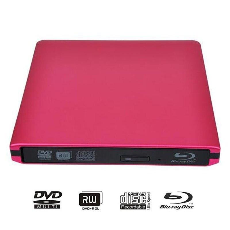 ABS Externe USB3.0 Lecteur Blu-ray DVD Brûleur 3D Bluray Lecteur lecteur DVD BD-ROM DVD-RW Brûleur Écrivain Pour Macbook PC Portable
