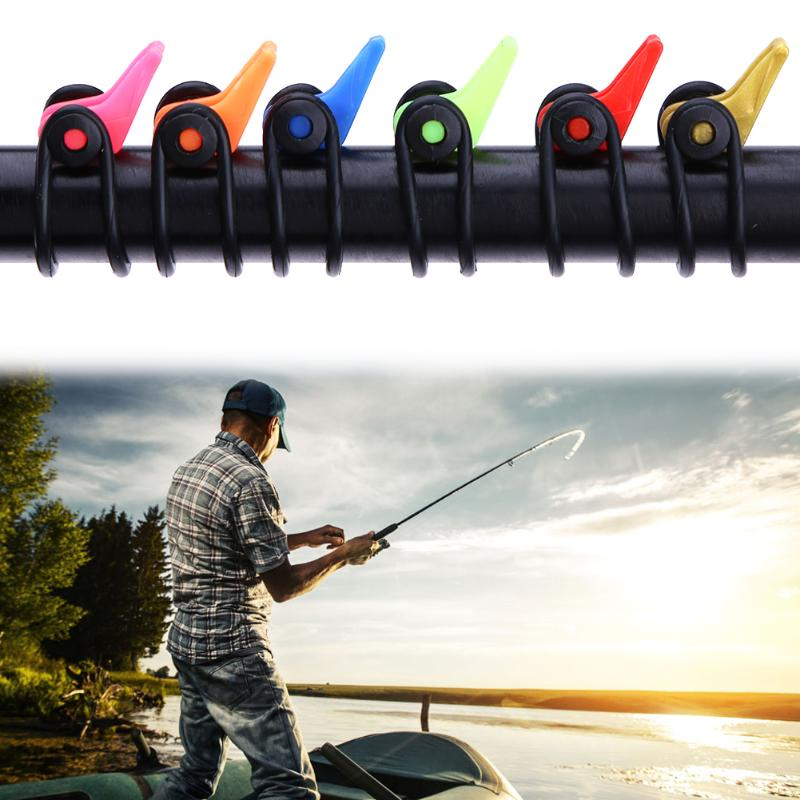 10Pcs/Set Fishing Lure Hanger Hook Baits Keeper Holder for Fishing Pole Safety Carp Fishing Tackle Accessories peche