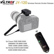 Viltrox Disparador remoto inalámbrico para JY 120 C1, 2,4 GHz, para Canon 750D 700D 650D 600D 80D 77D 800D 550D 760D 1100D 1200D 1300D