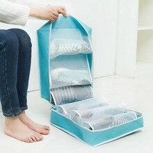 3 Pair Dustproof Oxford Portable Folding Shoes Storage Bag Travel Tote Zipper Pouch Waterproof Organizer