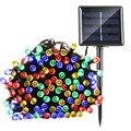 LederTEK Солнечная Рождественские Огни 22 м 200 LED Multi-color 8 Режимы Солнечные Фея Огни Строки Для Свадьбы На Открытом Воздухе рождественский Вечер