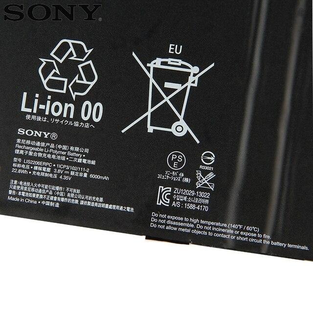 Batterie Sony dorigine LIS2206ERPC pour SONY Xperia tablette Z2 SGP541CN Z3 tablette compacte Z4 tablette Ultra tablette Z