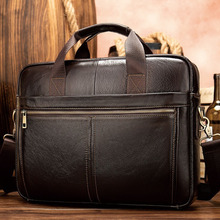 Portal Mens Briefcase Real Genuine Leather Business Bags for Man Male Laptop Computer Bag Men Lawyer 8572